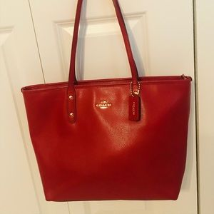 Authentic Coach Tote/Purse - Red